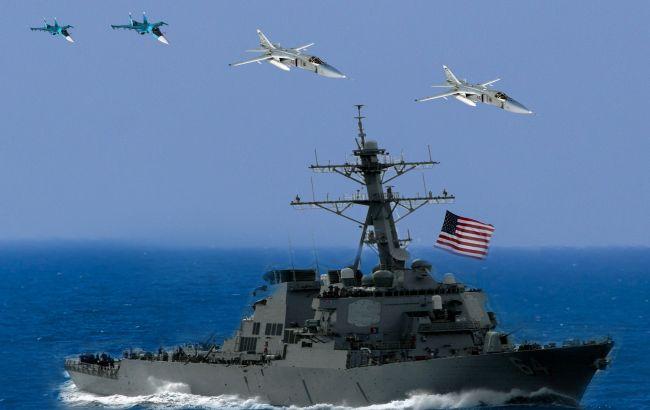 Росія зімітувала ракетний удар по есмінцю США в Чорному морі