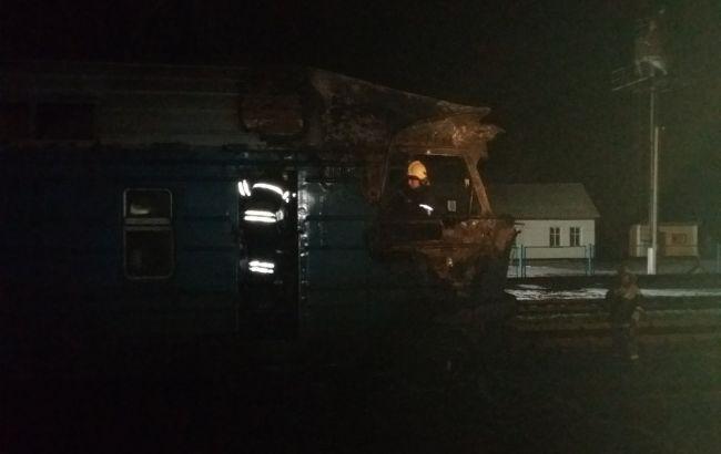 В Сумской области во время движения загорелся поезд