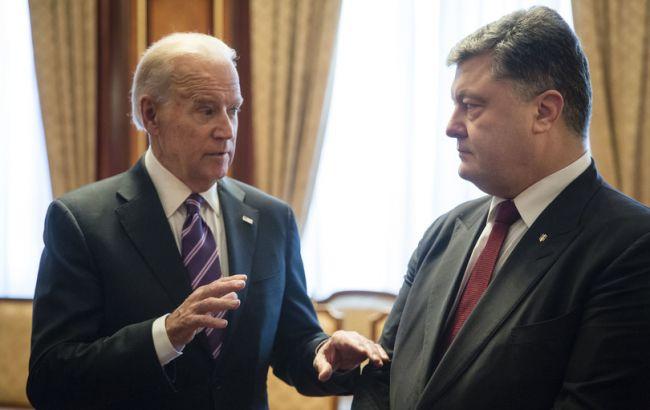 Фото: встреча Порошенко и Байдена
