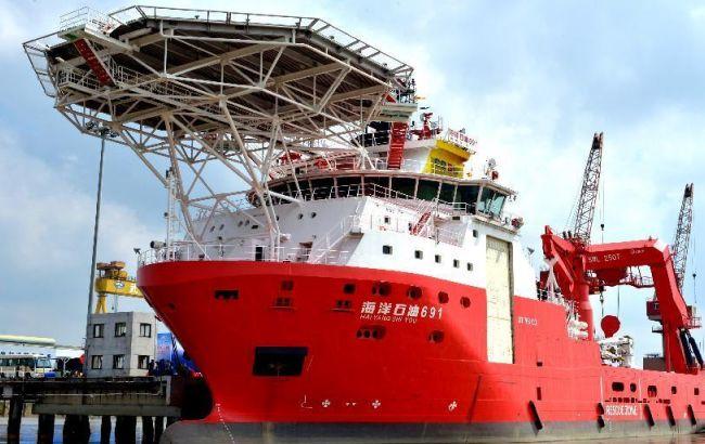 Генпрокуратура завела дело накитайское судно, которое прокладывало энергомост вКрым