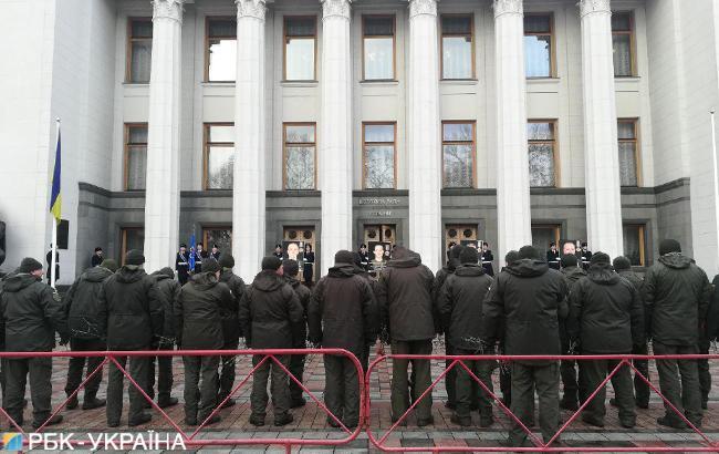 В Киеве почтили память четырех бойцов Нацгвардии, погибших от взрыва под Радой