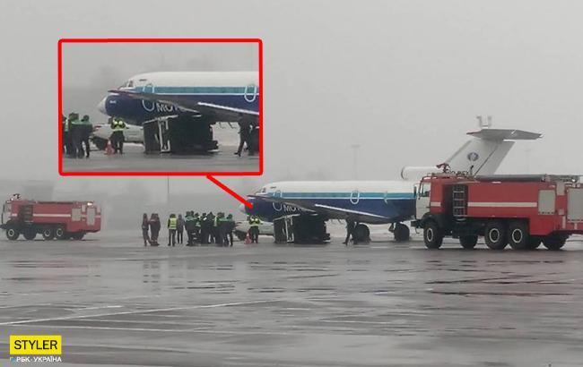 """Нелепое столкновение: в аэропорту """"Киев"""" произошло ЧП"""