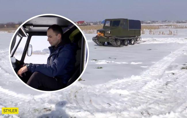 Украинский изобретатель из Черкасс создал настоящий вездеход: проедет везде (видео)