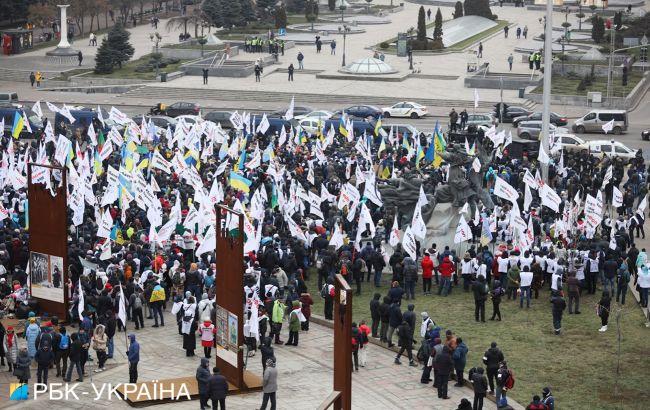 В центре Киева проходит масштабный протест ФОПов