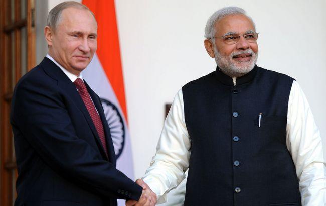 Фото: Владимир Путин и Нарендра Моди