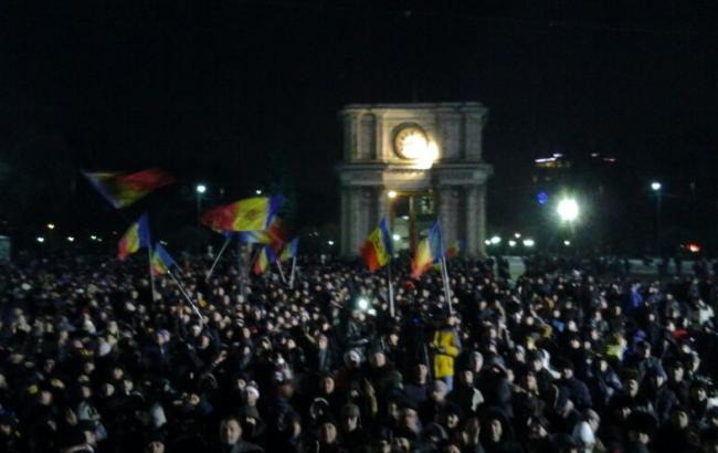 Фото: протесты в Кишиневе