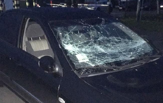 Фото: понівечене авто затриманого порушника (прес-центр ДПСУ)