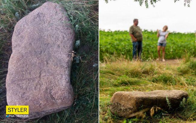 Возле Днепра нашли каменную бабу, которой 4 тысячи лет: была частью большого кургана