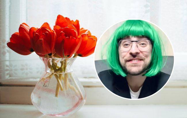 Украинский певец в зеленом парике перевоплотился в капризную девушку (видео)