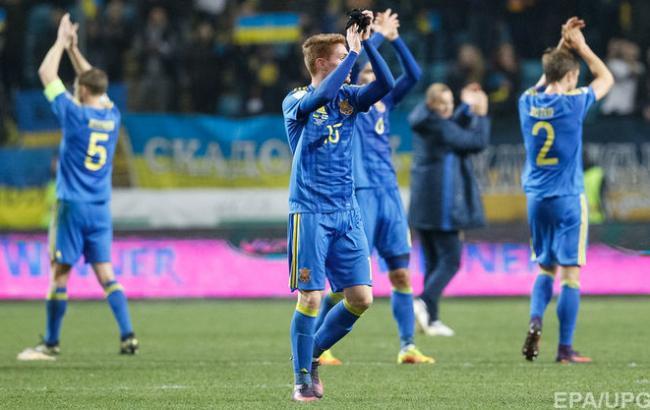 Фото: сборная Украины на тренировке перед матчем с Хорватией