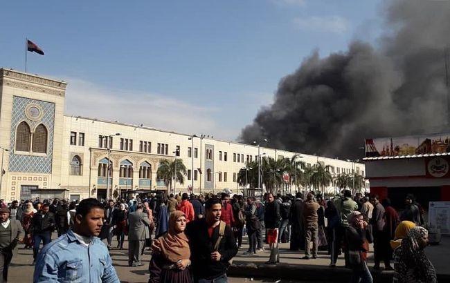 В Египте на центральном вокзале вспыхнулпожар