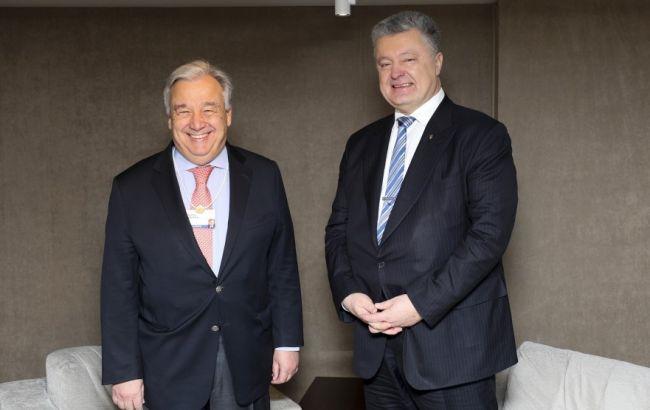 Порошенко обсудил с генсеком ООН перспективы размещения миротворцев на Донбассе