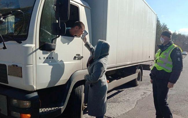 Полиция и медики начали дежурство на въездах в Радомышль