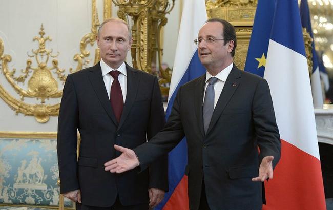 Фото: зустріч Путіна з Олландом