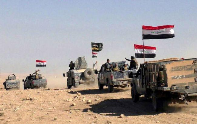Фото: иракские военные на подступах к Мосулу
