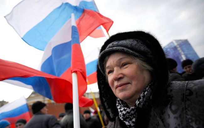 """Фото: кількість росіян, які хочуть бачити РФ """"великою державою"""" зменшилася на 8%"""