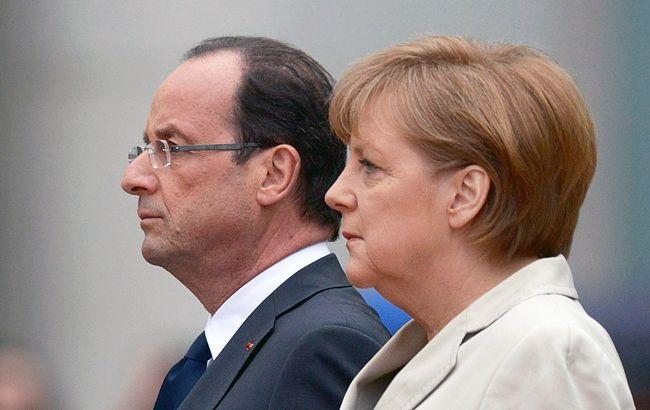 Канцлер Німеччини Ангела Меркель і президент Франції Франсуа Олланд  виступають за продовження санкцій проти Росії. Про це вони заявили на  спільній ... 36648820d855d