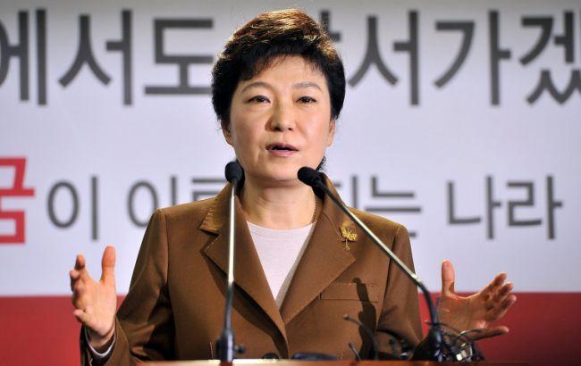 Фото: Пак Кын Хє выступила с обращением к гражданам КНДР