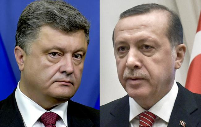 Фото: Порошенко и Эрдоган провели телефонный разговор