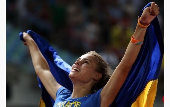 Украинская легкоатлетка получила награду вВильнюсе