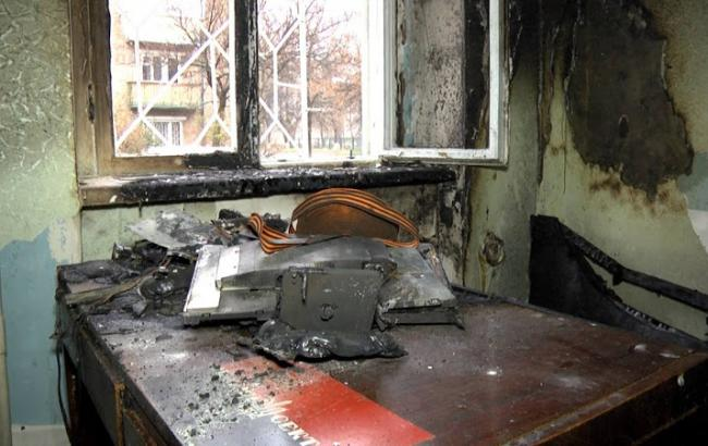 У Сумах підпалили волонтерський центр допомоги українським військовим