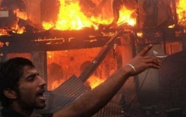 Фото: пожар на Мадагаскаре