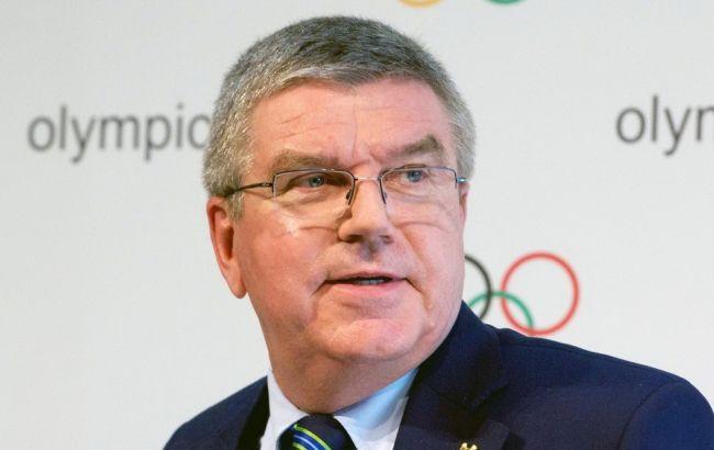 Фото: глава Міжнародного олімпійського комітету Томас Бах
