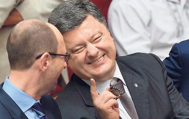 Яценюк и Порошенко договорились взять под общий контроль и Раду, и Кабмин - похоже, без младших партнеров