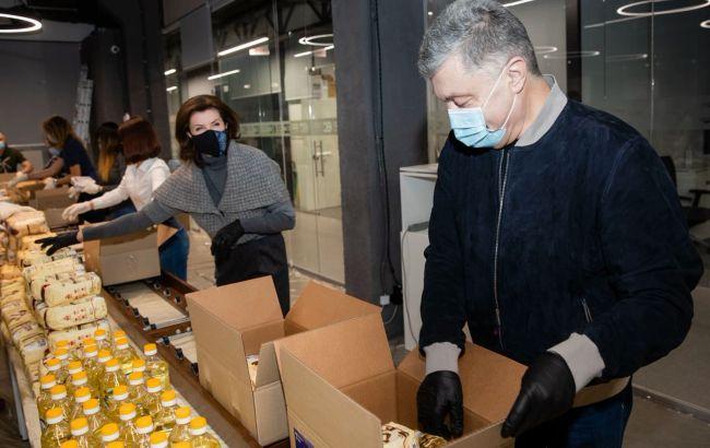 В офісі Порошенка зібрали 2 тисячі продуктових наборів длялюдей із вразливих груп