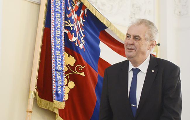 Президент Чехії запропонував Раді ЄС зняти санкції проти Росії
