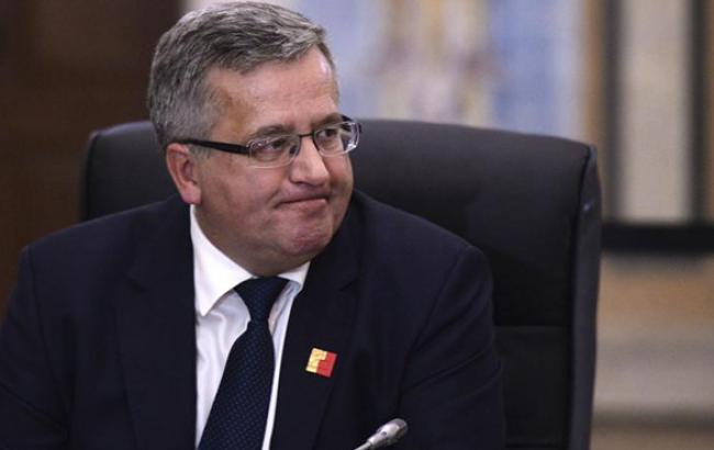 Президент Польщі закликав ЄС діяти у відношенні РФ превентивно