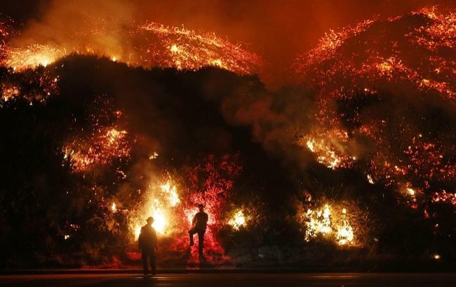 Фото: пожар в Калифорнии (twitter.com/sarahzeffiro)