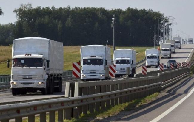 Гуманитарный конвой МЧСРФ прибыл вДонецк, посчету— 64-й
