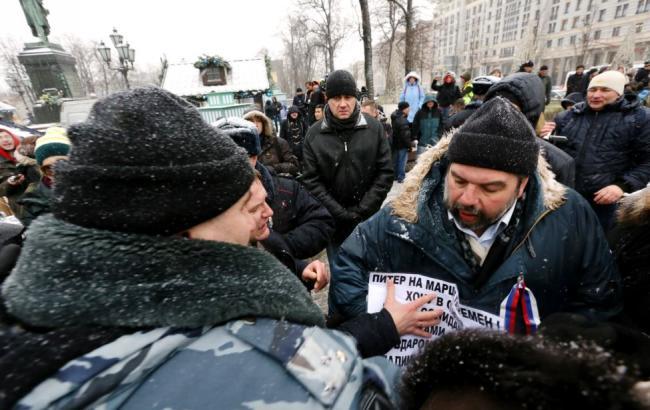 У Москві на мітинг проти платних парковок вийшли близько 500 осіб