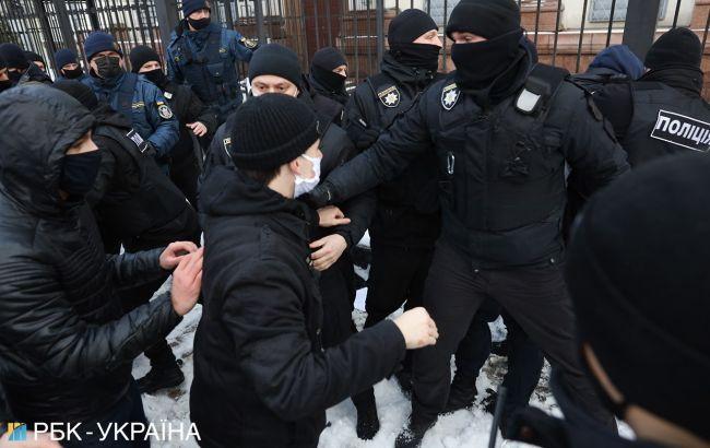 Тарифні протести дістались до Офісу президента, сталась штовханина