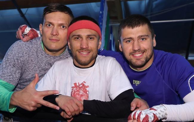 Фото: Усик, Ломаченко, Гвоздик
