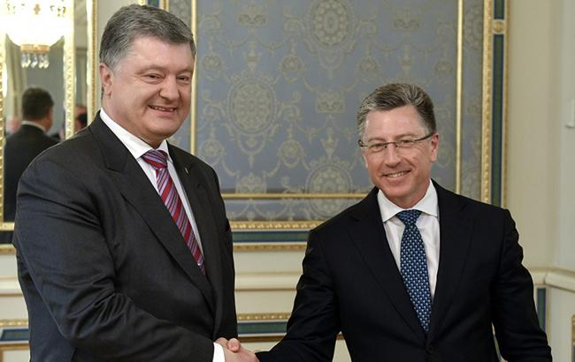 Порошенко та Волкер обговорили перспективу введення миротворців ООН на окуповану частину Донбасу та необхідність звільнення заручників