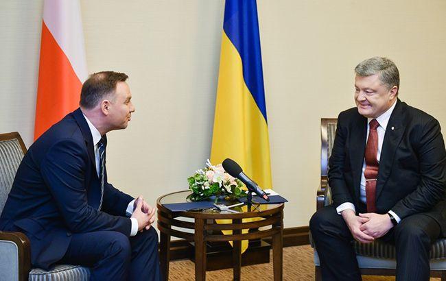 Фото: Анджей Дуда и Петр Порошенко (president.gov.ua)