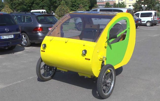 Электрический МЭМ: на Ровенской АЭС построили городской электромобиль с солнечными батареями