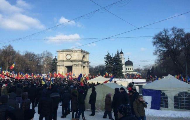 Фото: протесты в Молдове