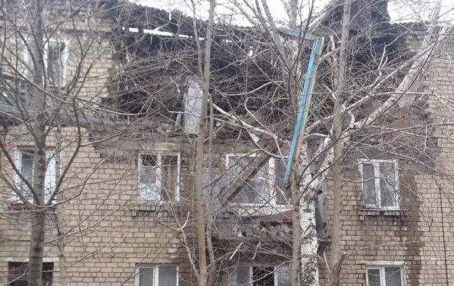 Фото: взрыв газового баллона в Макеевке повредил трехэтажный дом (Новости Донбасса)