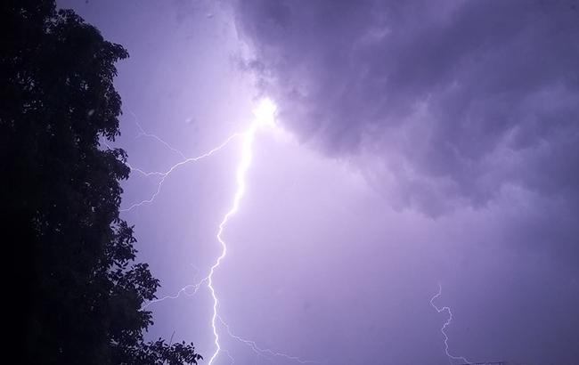 Фото: Молния во время грозы (facebook.com/MNS.GOV.UA)