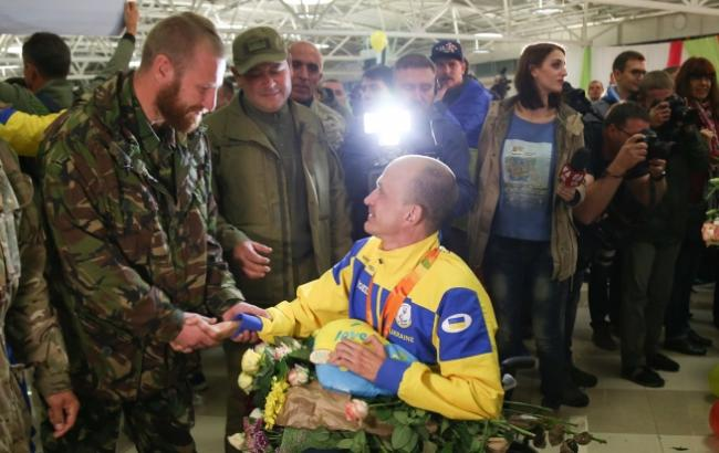 Фото: Зустріч паралімпійців (Віталій Носач, РБК-Україна)