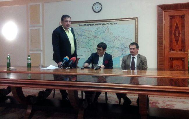 Фото: Михаил Саакашвили, Андрей Пивоварский и Денис Антонюк