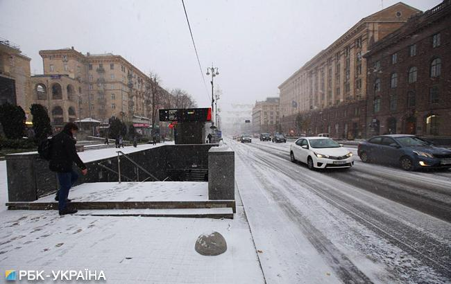 В Киеве образовались огромные пробки