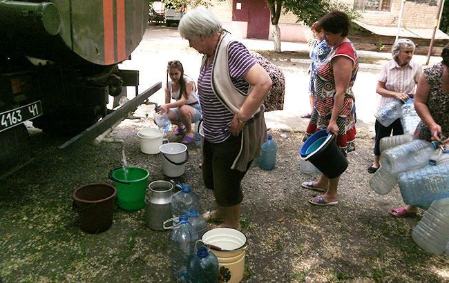 Фото: ситуация с водоснабжением в Авдеевке