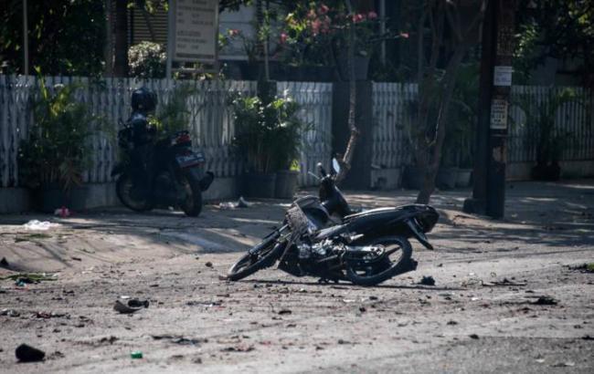 Фото: місце вибуху в Індонезії