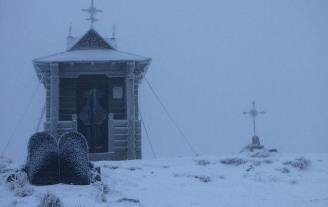 В Україні вчора випав перший сніг