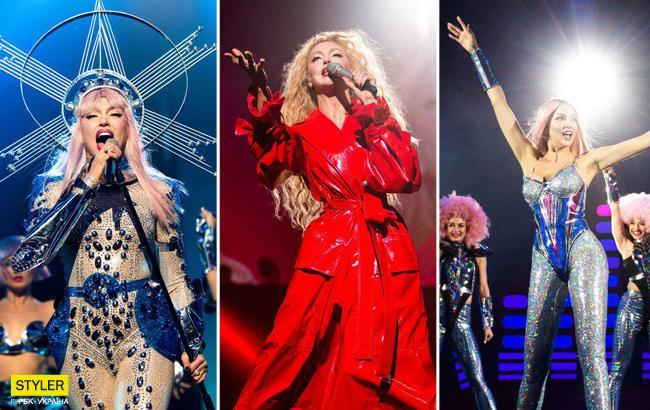 """""""Королева диско і чарівного лісу"""": Полякова змінила 11 ефектних образів за концерт"""