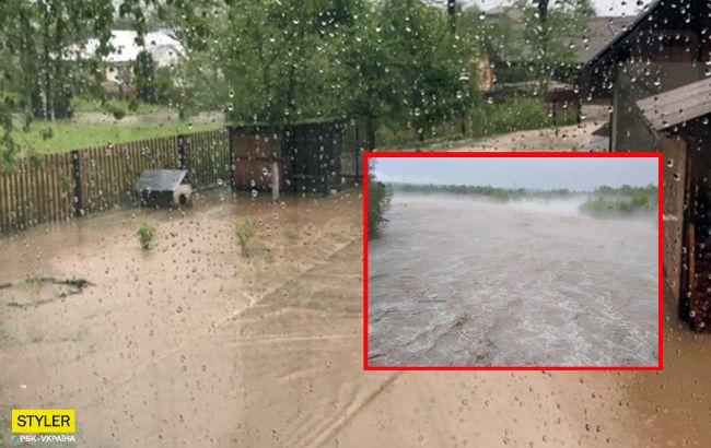 Стихийное бедствие: города на Прикарпатье превратились в реки (фото, видео)